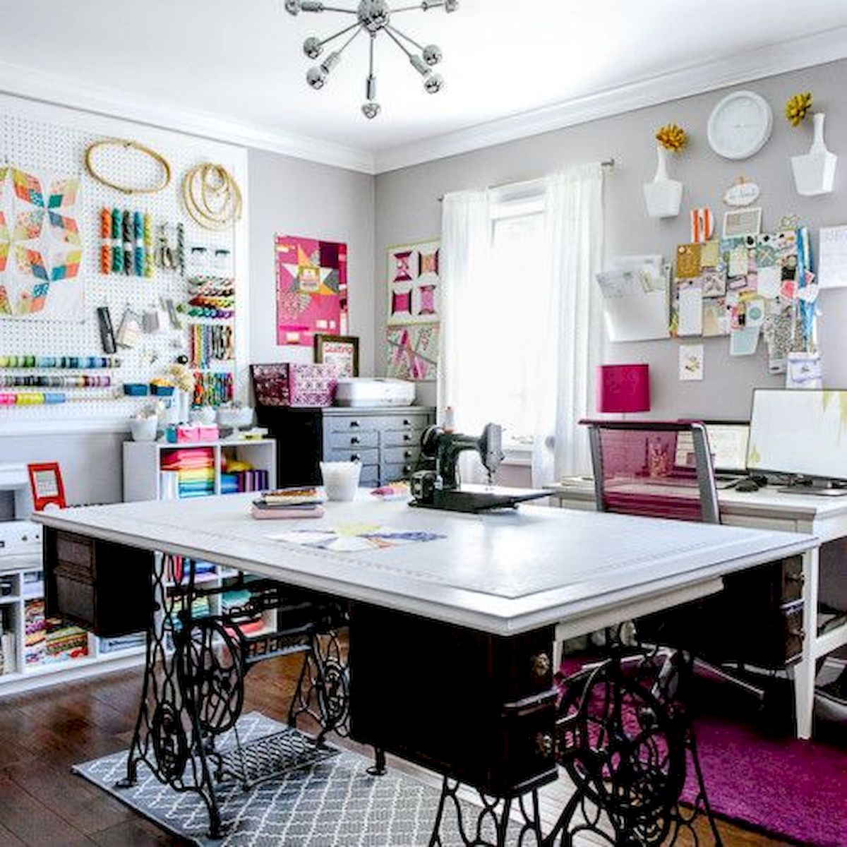 50 Most Popular Craft Room Sewing Decor Ideas (31)