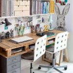60 Favorite DIY Office Desk Design Ideas and Decor (43)