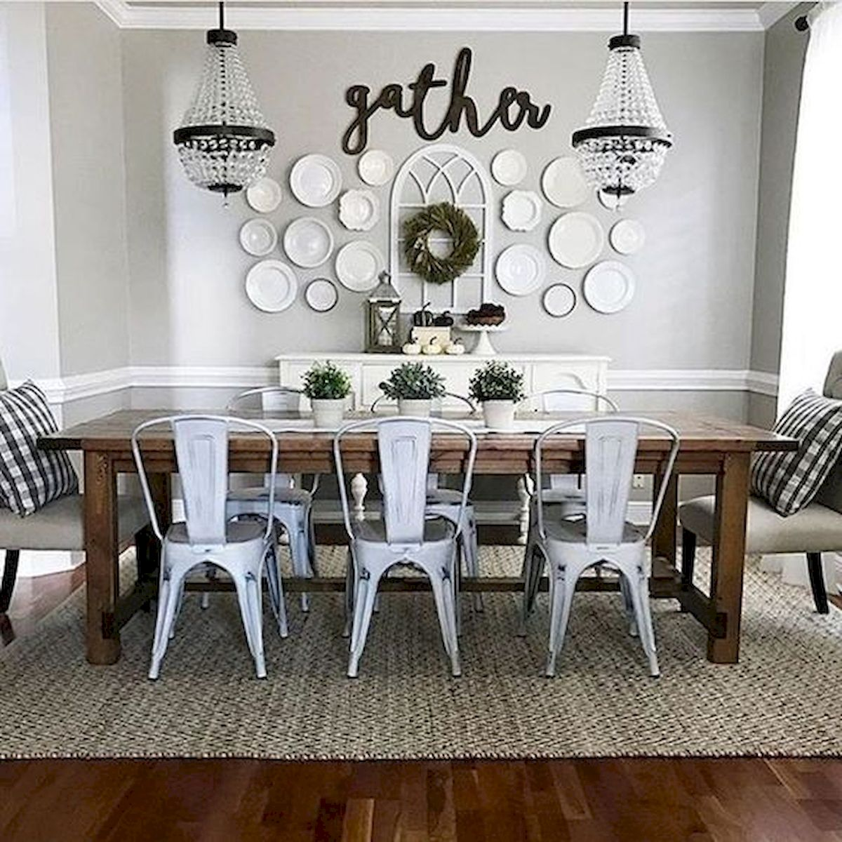 51 Farmhouse Wall Decor Ideas for Dinning Room (1)