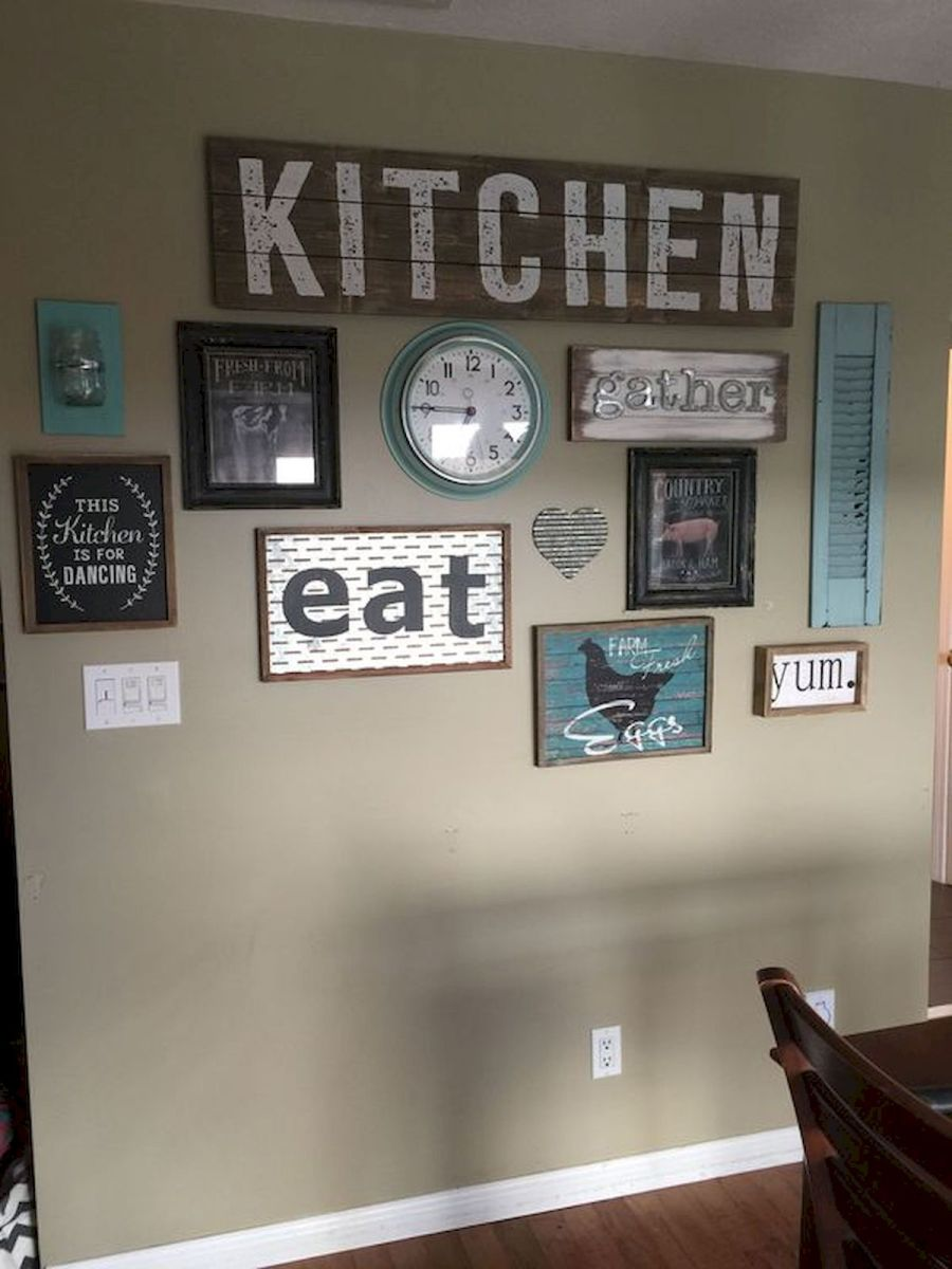 51 Farmhouse Wall Decor Ideas for Dinning Room (18)