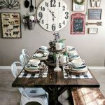 51 Farmhouse Wall Decor Ideas for Dinning Room (27)