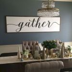 51 Farmhouse Wall Decor Ideas for Dinning Room (31)
