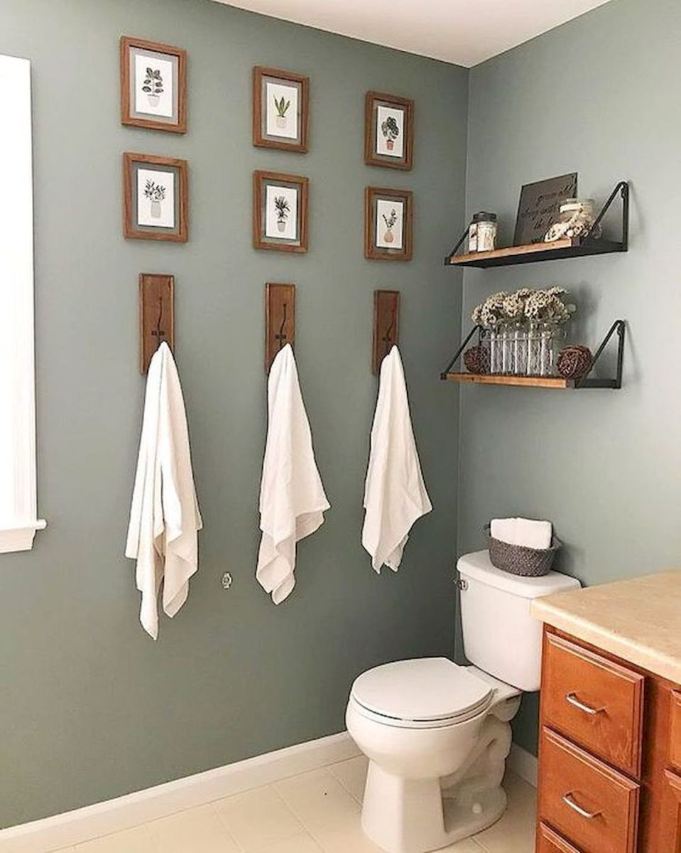 59 Best Farmhouse Wall Decor Ideas for Bathroom (31)
