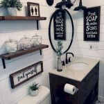59 Best Farmhouse Wall Decor Ideas for Bathroom (34)