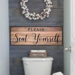 59 Best Farmhouse Wall Decor Ideas for Bathroom (6)
