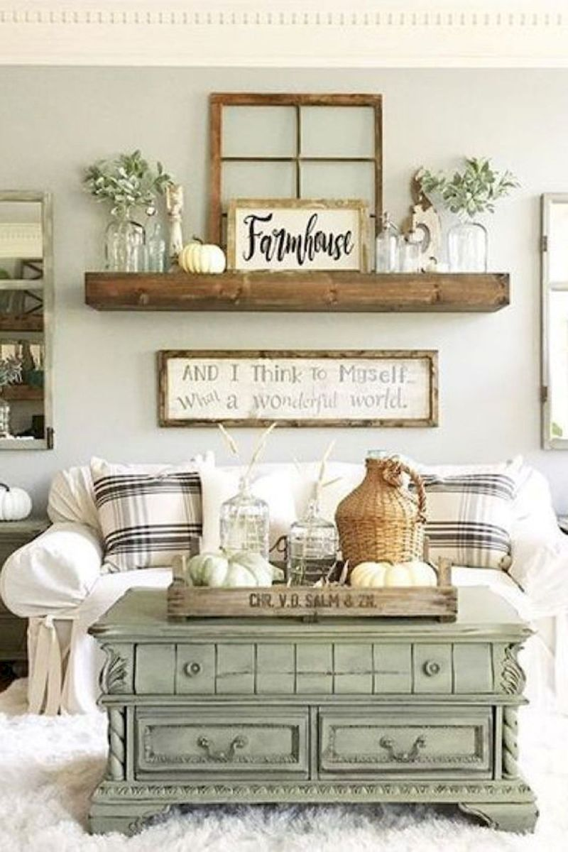 75 Best Farmhouse Wall Decor Ideas for Living Room (30)