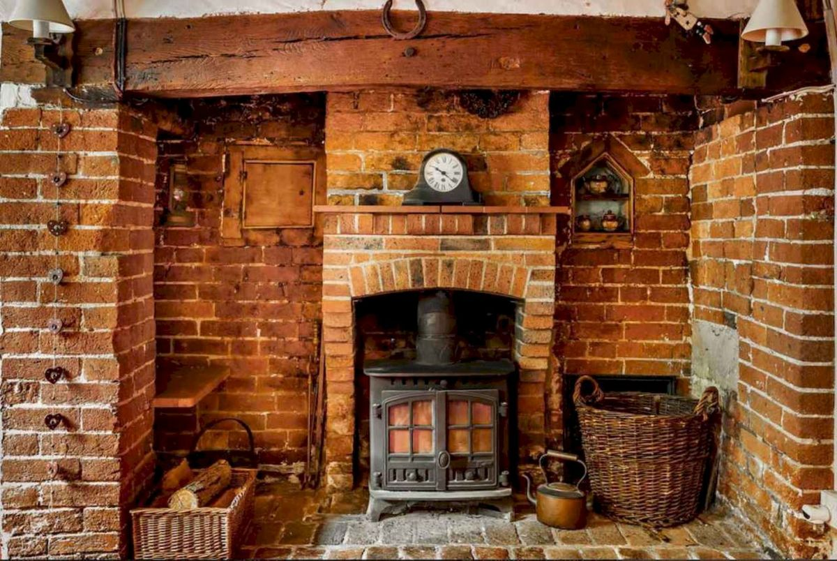 The Best Fireplace Ideas for Farmhouse (10)