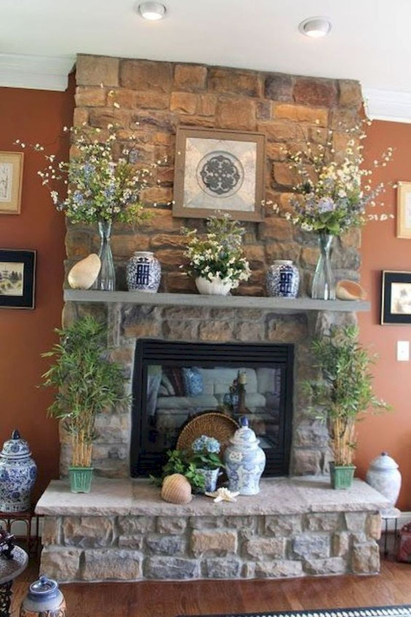The Best Fireplace Ideas for Farmhouse (42)