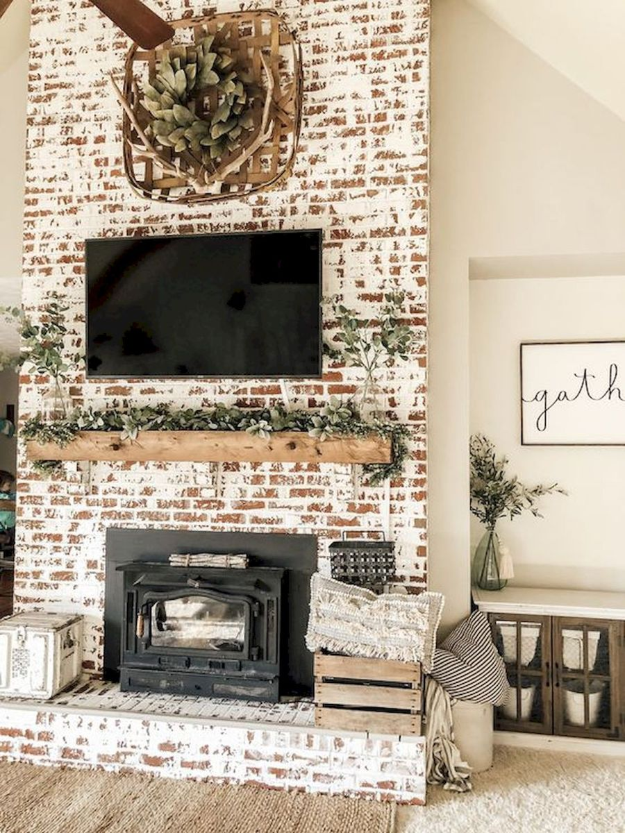 The Best Fireplace Ideas for Farmhouse (5)