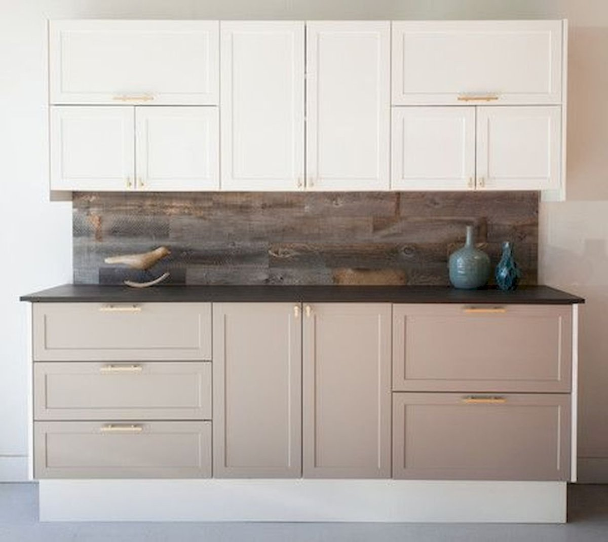15 Fancy kitchen ideas Using a combination of brown wood (2)