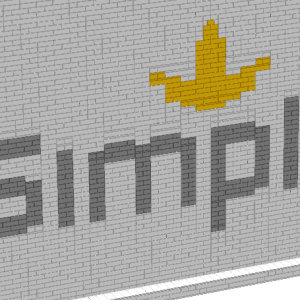 In 2015, I did a team building activity for a large group of Simplot employees and we had a blast. As a team, I had the people build portions of this and made a large monument. In this case, the bricks are in profile (side) and you get a different texture.