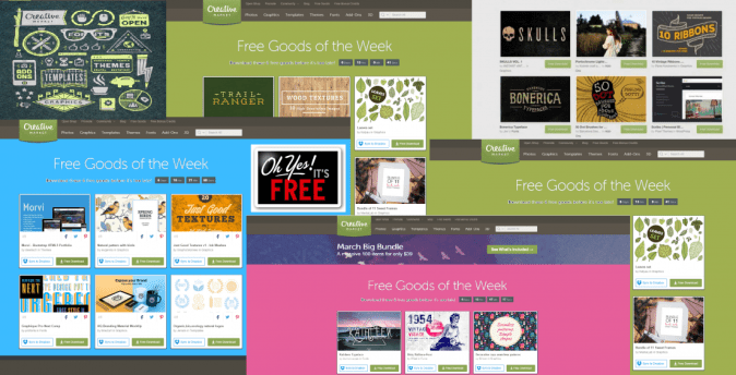 creative market free goods of the week