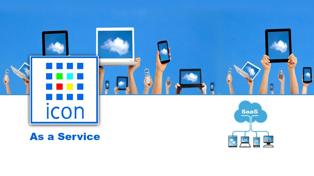 ICON Software as a Service/ SaaS by Grafimedia