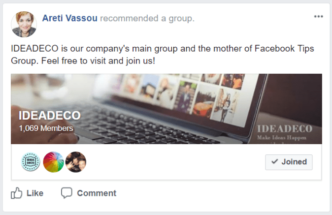 Ideadeco facebook group