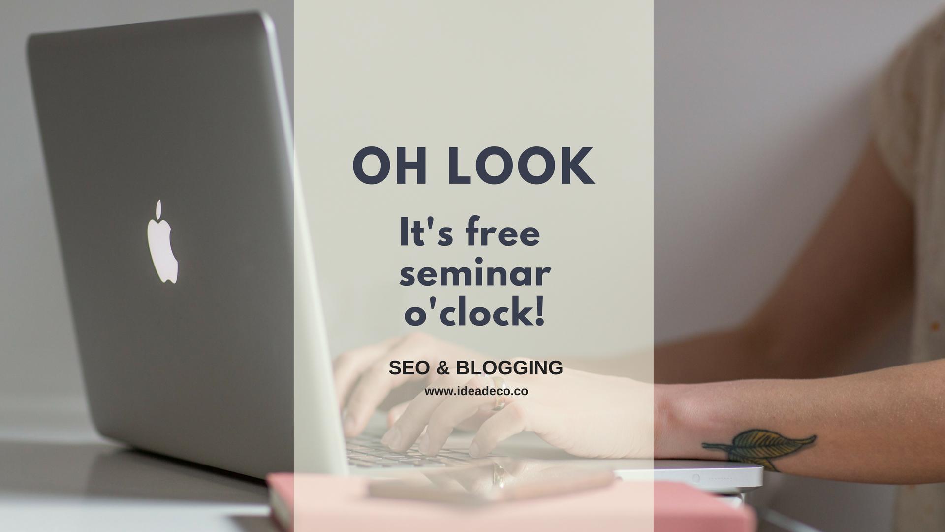 SEO Free Seminar by Areti Vassou Ideadeco