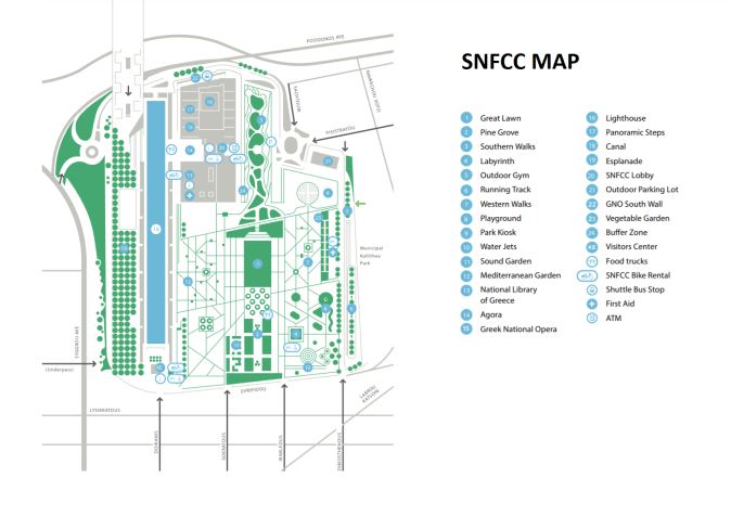 Stavros Niarchos Foundation Cultural Center Map