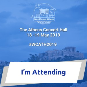 I am attending WordCamp Athens 2019