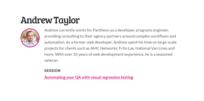 Automating your QA with visual regression testing by Andrew Taylor