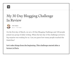 My 30 Day Blogging Challenge In Review