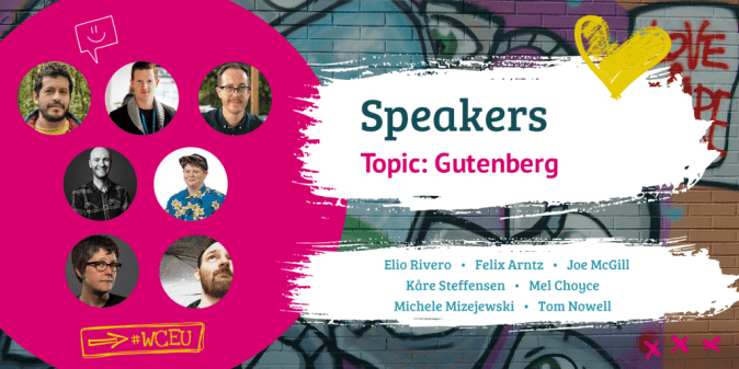 WordCamp Europe 2019 Speakers, Gutenberg