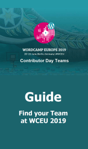 Contributor Day Teams at WCEU 2019