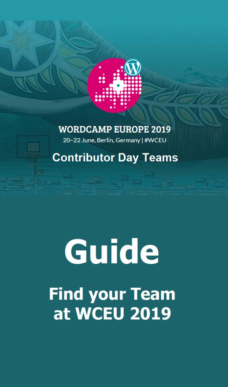 Contributor Day Teams at WCEU 2019
