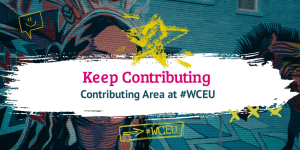 Make use of the Contributing Area at #WCEU
