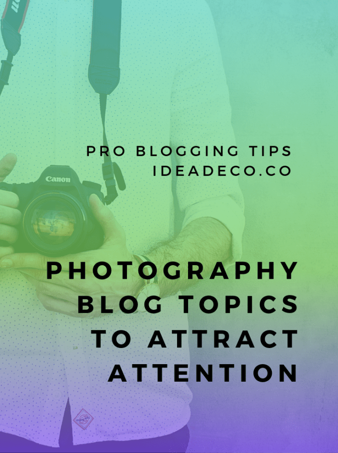 What should I publish on my new photography blog?