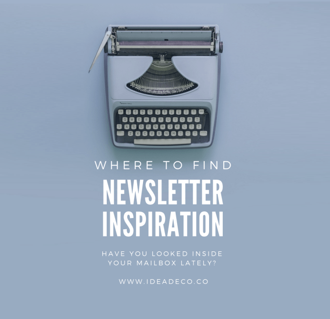 We would love to have you in our mailing list for IdeaDeco Newsletters.  Join us!