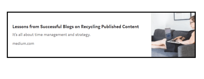 Lessons from Successful Blogs on Recycling Published Content by Areti Vassou