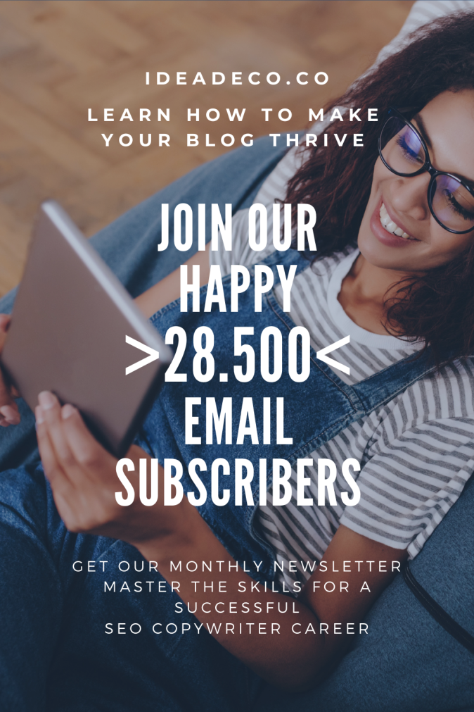 Ideadeco Newsletter -Join our happy 28.500 email subscribers