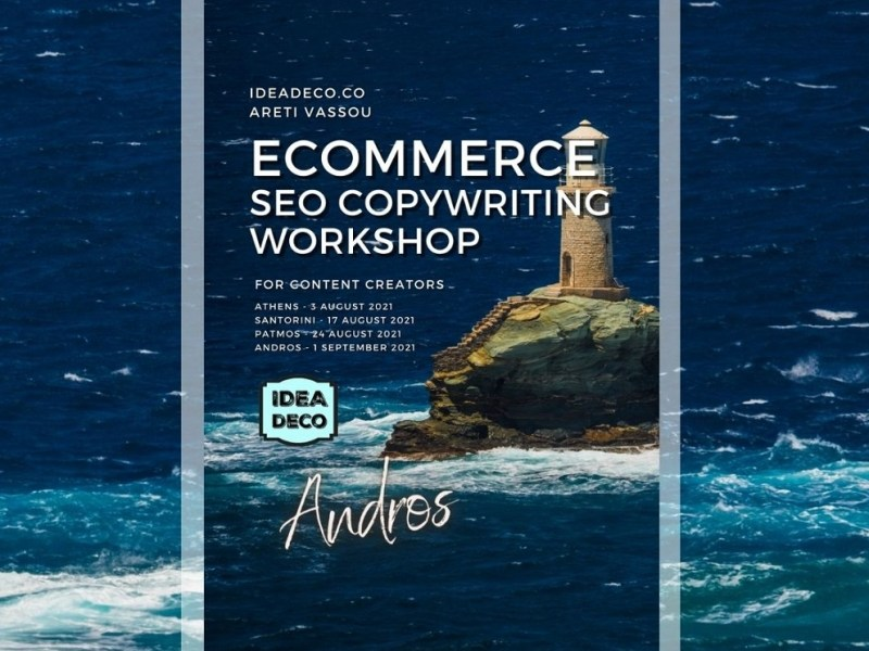 Ecommerce SEO Copywriting Workshop For Yoga Teachers in Andros by IDEADECO ARETI VASSOU