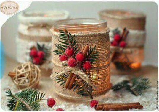 Belli gli gnomi di natale creati con le bottiglie di vetro. Riciclare I Barattoli Di Vetro Per Decorare A Natale 20 Idee