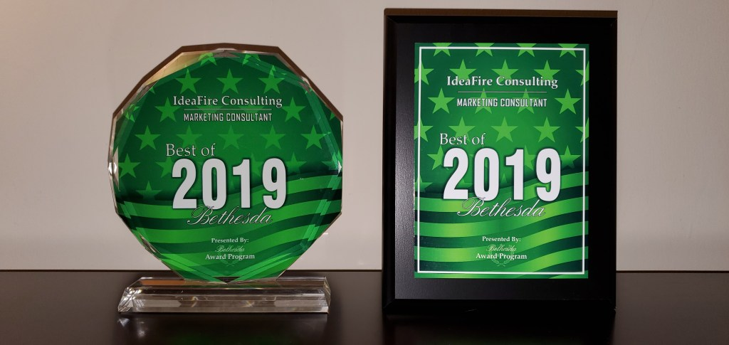 2019 Best of Bethesda Award - IdeaFire Consulting