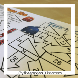 Every math classroom should be using math games. Pythagorean Theorem maze battle is a great way to review.