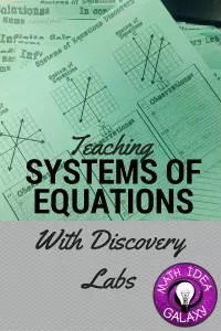 Teaching Systems of Equations