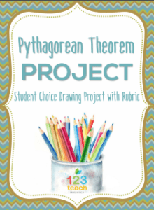 Pythagorean Theorem Drawing Project from 123 Teach-Brittany Kiser