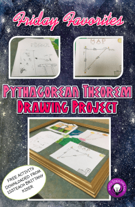 Reviewing student work with the Pythagorean Theorem Drawing Project, a Free Download from 123 Teach-Brittany Kiser. A blog post at ideagalaxyteacher.com.