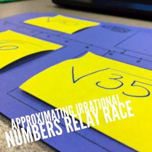 Approximating irrational numbers with an interactive relay race game. One of my favorite topics to teach!