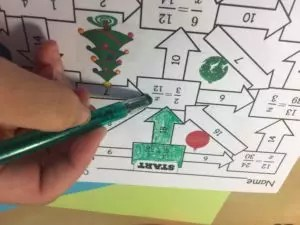 Christmas math activities- 5 ideas for the week before winter break.