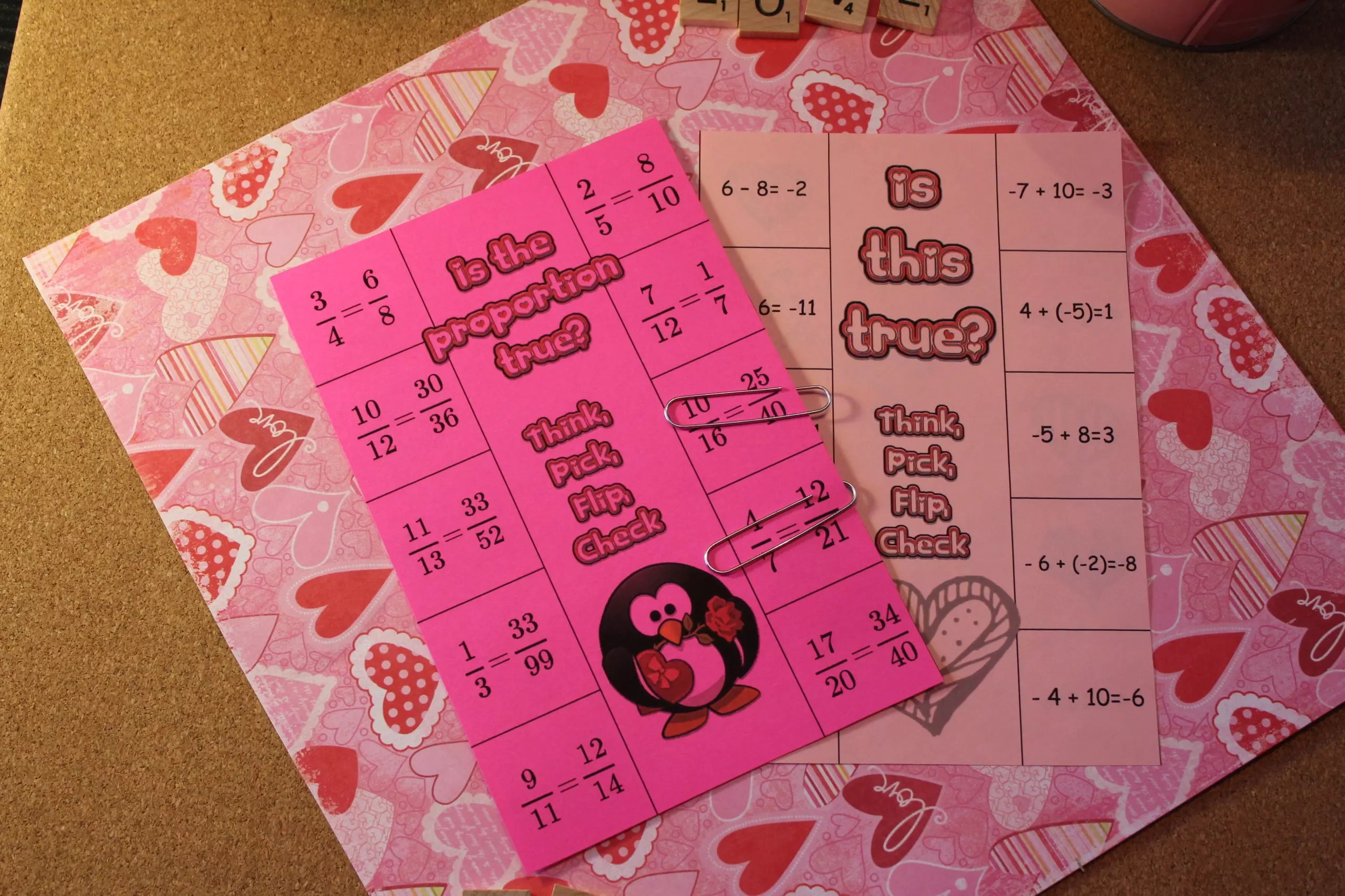 This is a blog post full of activities for Valentine's Day in the middle school math classroom.