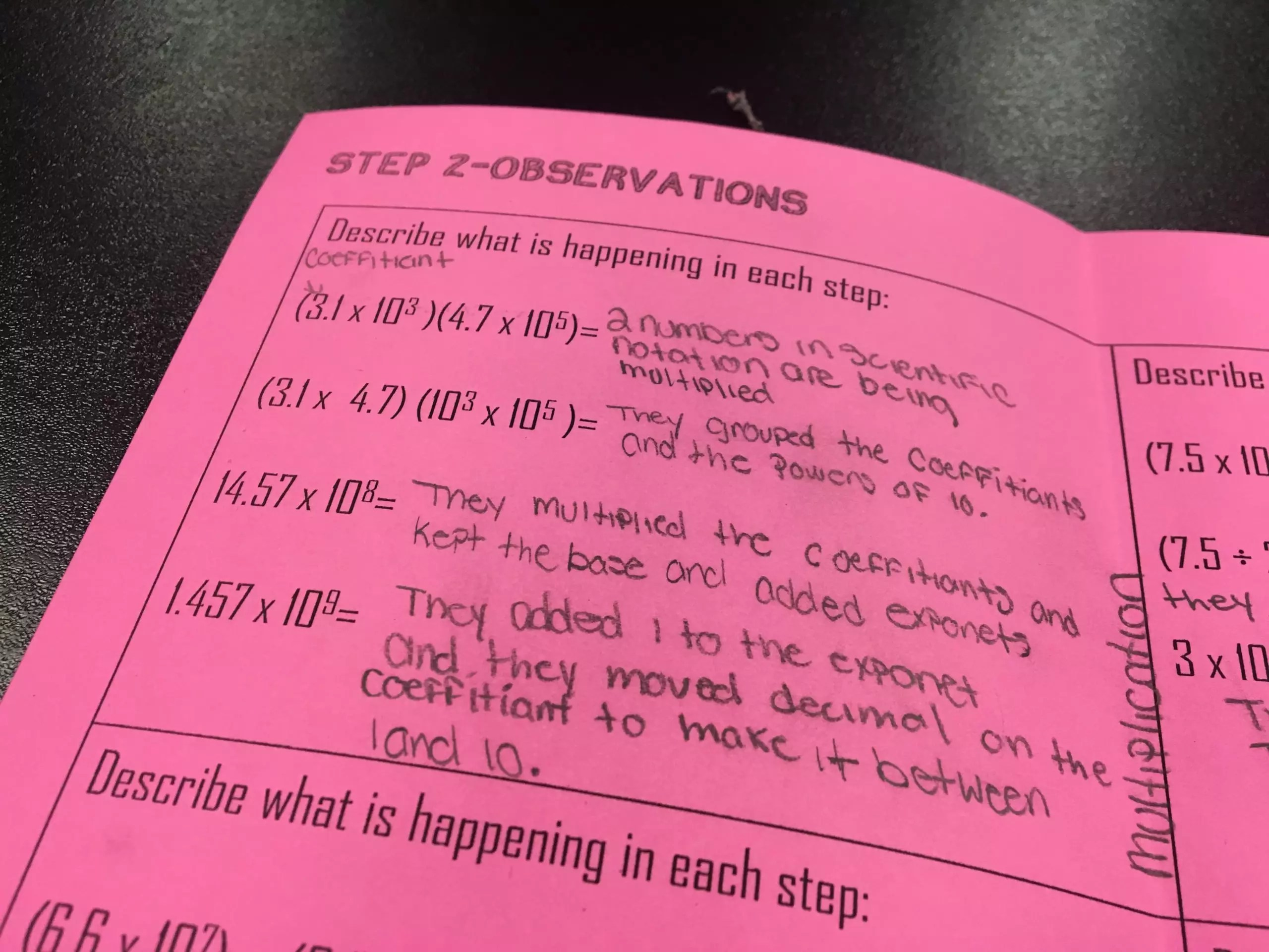 Teaching Operations With Scientific Notation Through Discovery