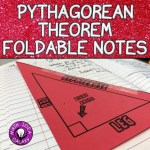 Using foldable notes and discover lab to introduce students to the Pythagorean Theorem.