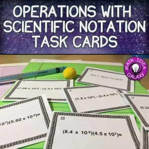 a blog post about teaching operations with scientific notation