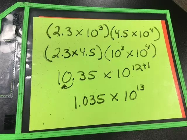 a blog about activities to practice scientific notation with operations