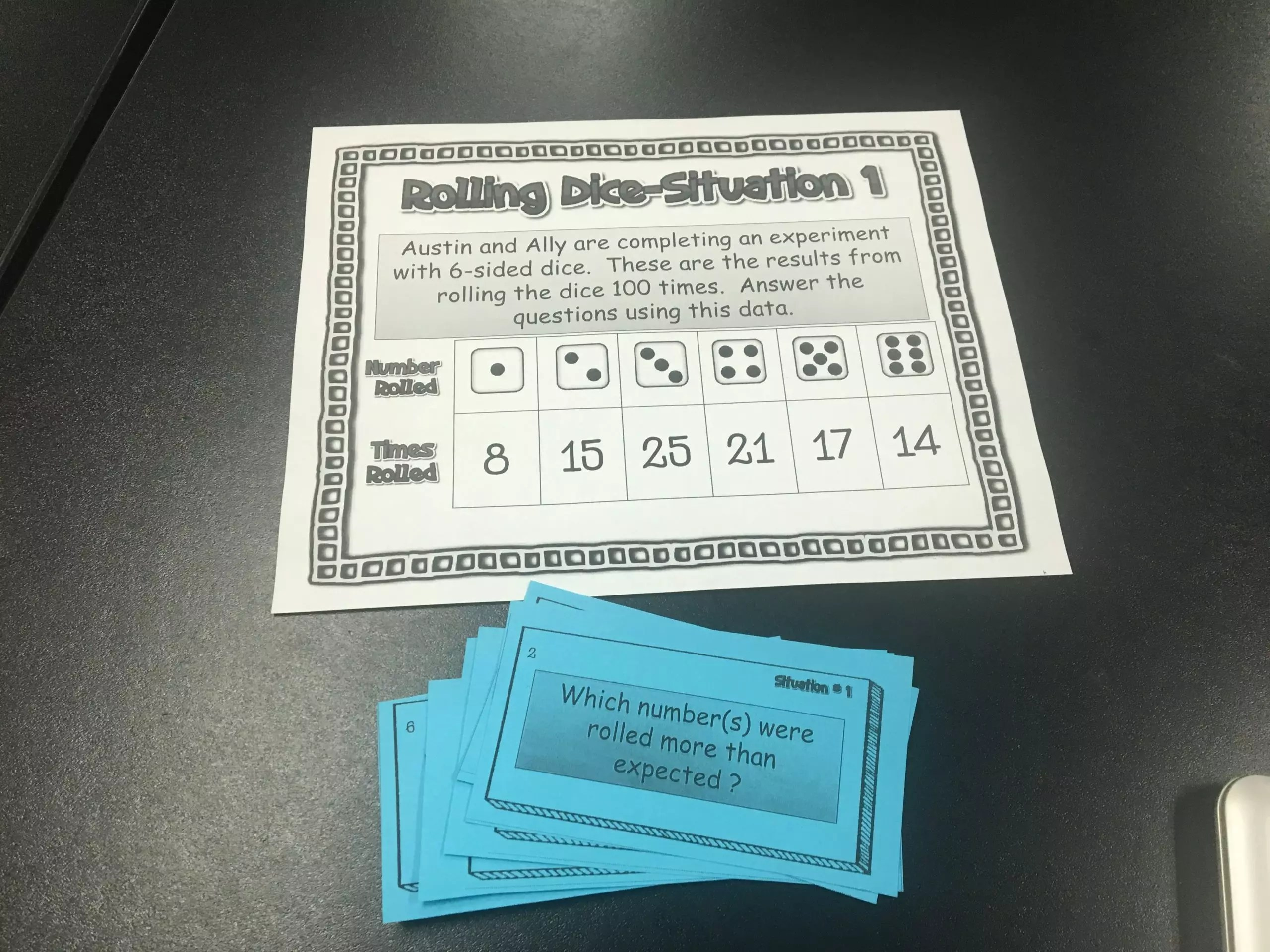 Read this blog post about using I can statements to plan and teach your simple probability lessons.
