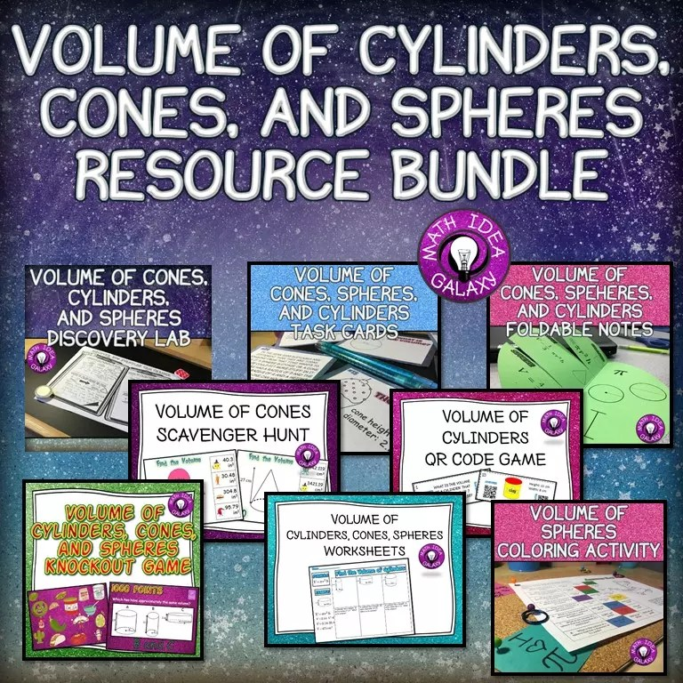 Read this blog post about teaching volume of cylinders, cones, and spheres with interactive notebooks.