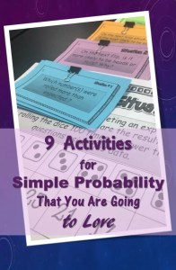 Read this post for some ideas for teaching simple probability and make it engaging.