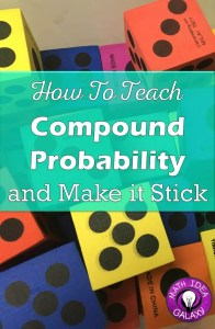 How to chunk out & teach compound probability. Tips on using student goals or I can statements in an interactive notebook to teach compound probability.