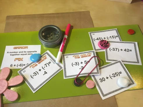This is a blog post about engaging ways to practice adding integers.
